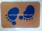 pvc coil mat with print paint pattern