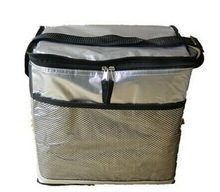 foil insulated silver lunch cooler bag tote