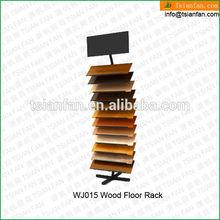WJ015 Swing arm hardwood sample display stand