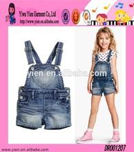 Fashion High Quality Princess Girl Clothes Custom Hot Sale Strap Wholesale Kids Denim Clothes