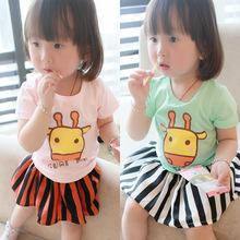 """"""" BabyCity """" 2014 summer new boy cartoon calf brand children's wear short-sleeved T-shirt for girls"""