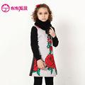 floral de la sublimación impreso chinos baratos vestidos para niñas de invierno 2014