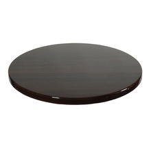 "1083 36"" Round Indoor Resin Table Top Walnut Color/For dining use walnut table top"