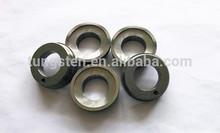 Tungsten carbide valve seat ring/splined seal ring