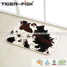 100% Polyester Printing Flannel Sponge Carpet Rug, Cow Printed Mat