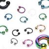 Titanium Horseshoe Lip Piercing Ear Eyebrow Genital Area Ring W/ Ball Eyebrow Piercing