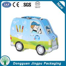 Car shaped kids tin lunch box