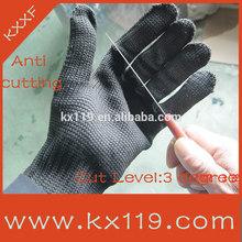 Black cut resist Anti-scratch knife 3m cut resistant gloves