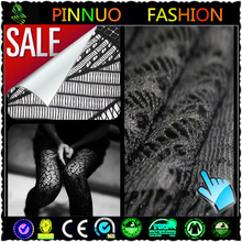 2014 fashion black lace overlay fabric for dress