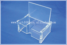 clear top open acrylic business card holder