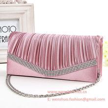 Fashion Silk Female Banquet Bags Evening Bags With Diamond