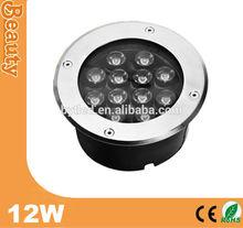 12W IP67 waterproof led floor mounted light 90-265V AC 24V DC