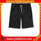 High quality cheapest quick dry bulk plain cotton fleece elastic waist shorts for men