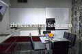 china aprobado por la ce de alto brillo moderno elemento de cocina mesa de comedor conjunto