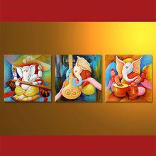 Newest Handmade Oil Painting Of Ganesha