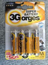OEM AA R6P Metal Jacket batteries um3 cell dry battery