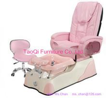 manicure pedicure furniture_massage spa chair- pink# set