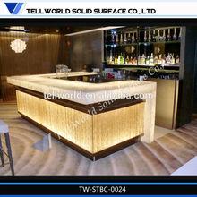 Modern Hotel Lobby Bar Table Lounge Bar Counter LED Table