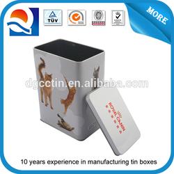 Wholesale Custom decorative aluminum dog food tin box