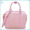 Exotic python pattern embossed leather handbag exotic leather handbag