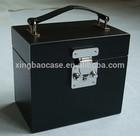 black royal /Aluminum/ABS/Plastic transparent cosmetic case beauty box