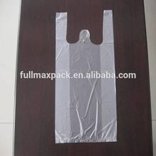 Clear color plastic t-shirt bag