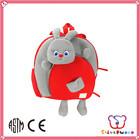 GSV ICTI Factory soft Plush and stuffed decorative kids animal backpack