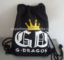 high quality custom cotton bags drawstring/cotton canvas drawstring bag/black cotton drawstring bag (YC3989)