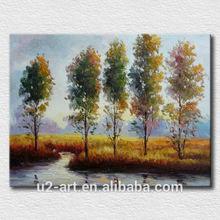 Handpainted decorative oil painting autumn landscape for bedroom