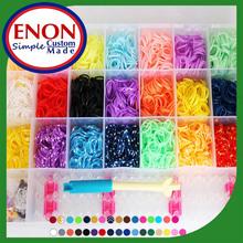 fashion kint DIY loom bands rainbow,cheap colorful rubber rain bow loom bands