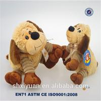 Brown lovely big animal toys handmade/kids soft toys/plush dog product