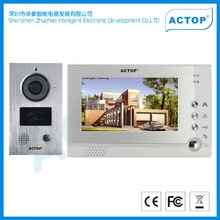 Multi languages wire 7inch video doorbell,security digital doorbell camera with photo memory