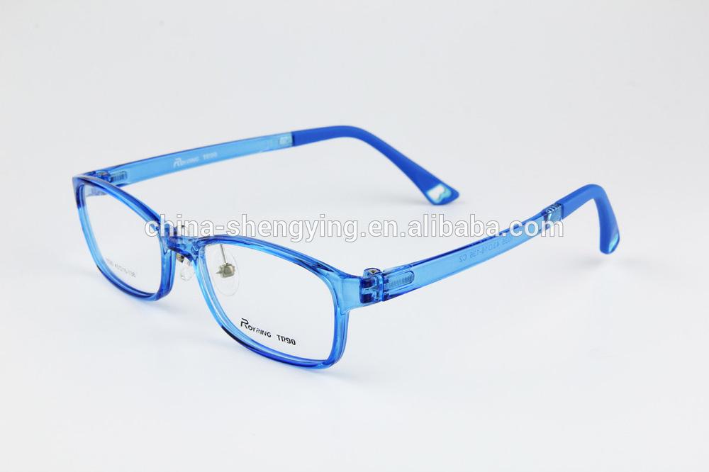Transparent Blue TR90 Plastic Children Eyeglass Frame Kids ...