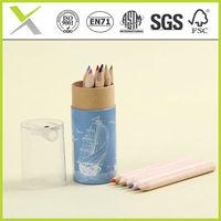 12/24 Pcs Short Natural Wooden Colour\ Half size\ OEM pencil