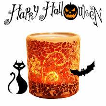 Pumpkin color candlestick for Halloween fretival