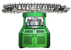 Jacquard computerized knitting machine for home use