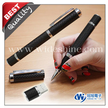 Christmas Gift ! Carbon fiber fountain pen with promotional ball pen new quality product usb flash drive