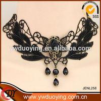 Wholesale Fashion European Retro Style Rose Design Lace Necklace