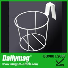 Round Sharps Container Steel Brackets