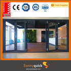 Guangzhou 3.0 aluminium AS glass sliding folding partition doors