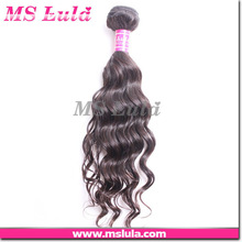 Beauty virgin brazilian human natural wave can be dyed cinderella hair extensions