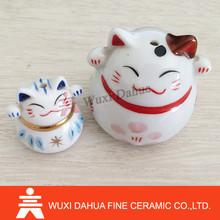 different sizes of Ceramic colorful Plutus cat