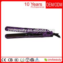 100% Ceramic black flat hair iron hair straightener iron,flat irons ,,zebra purple color