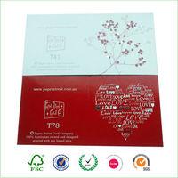 funny heart shape handmade greeting card