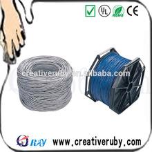 Fluke passed Shielded Cat5e Ethernet lan cable network cable,Cat5e FTP bare copper PVC/LSZH/ROHS network lan cable