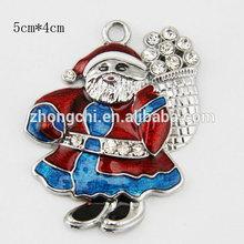 zinc alloy custom metal santa claus christmas ornament
