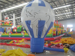 Attrative red and white inflatable air balloon for promotion