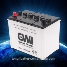 best selling dry cell auto battery 12v50ah N50