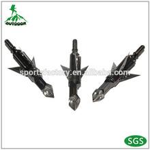 arrow crossbow 3 blades expandable broadhead traditional bow archery arrowhead 100grain 2'' cut