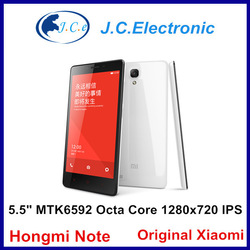 Xiaomi Hongmi Note 5.5'' IPS Screen MTK6582 Quad Core 1.3GHz 1GB RAM 8GB Android Smart Phone 3G WCDMA